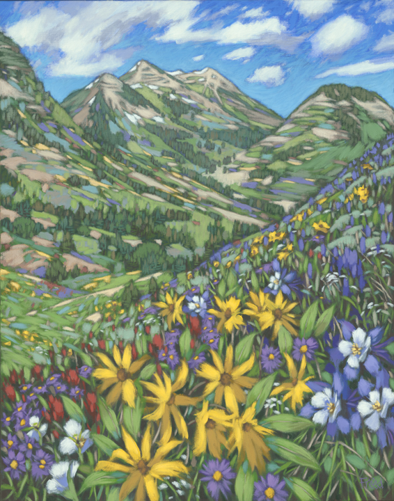 Cascading Blooms Fine Art Print