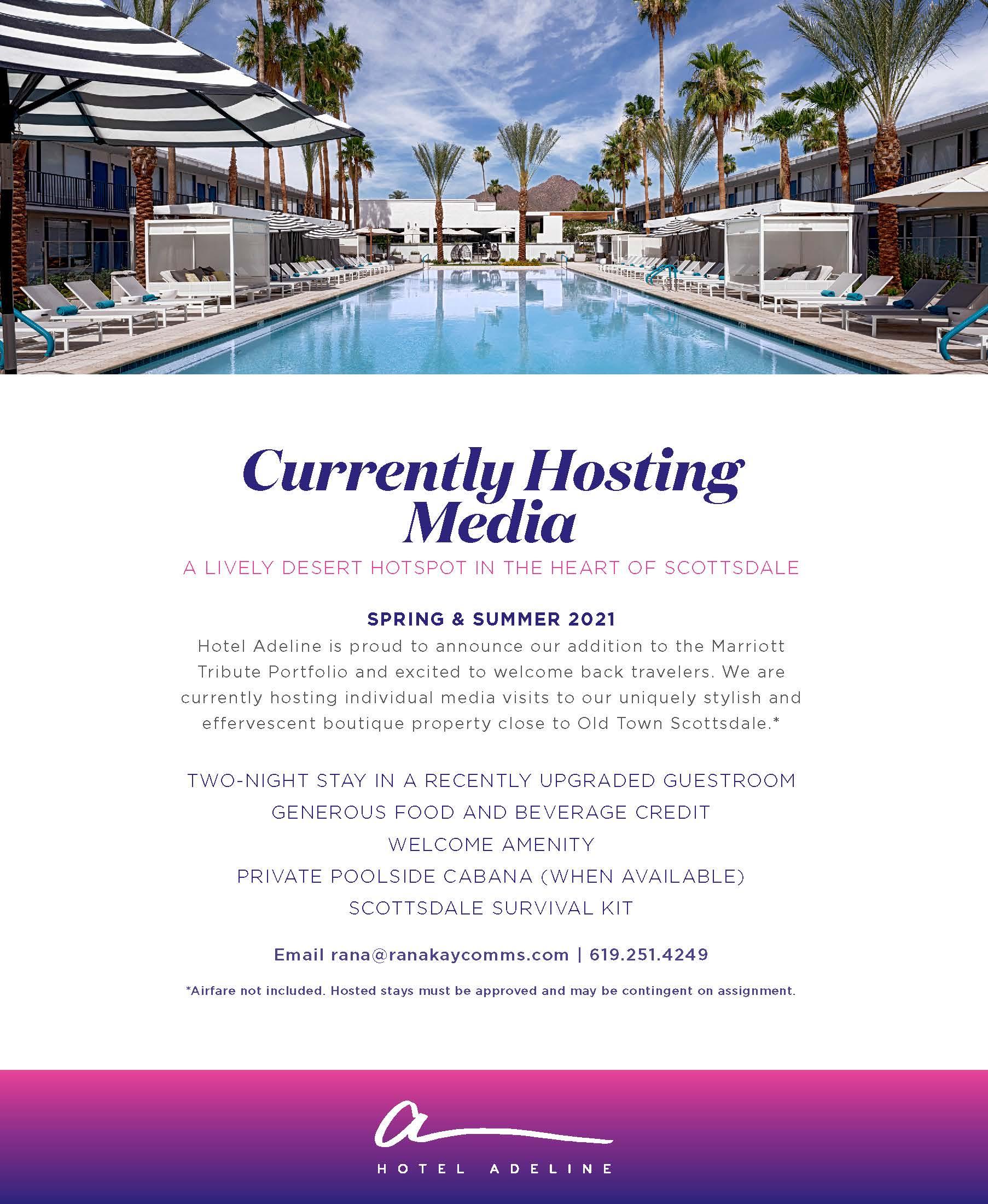 Media Invitation, Hotel Adeline, a Tribute Portfolio Hotel