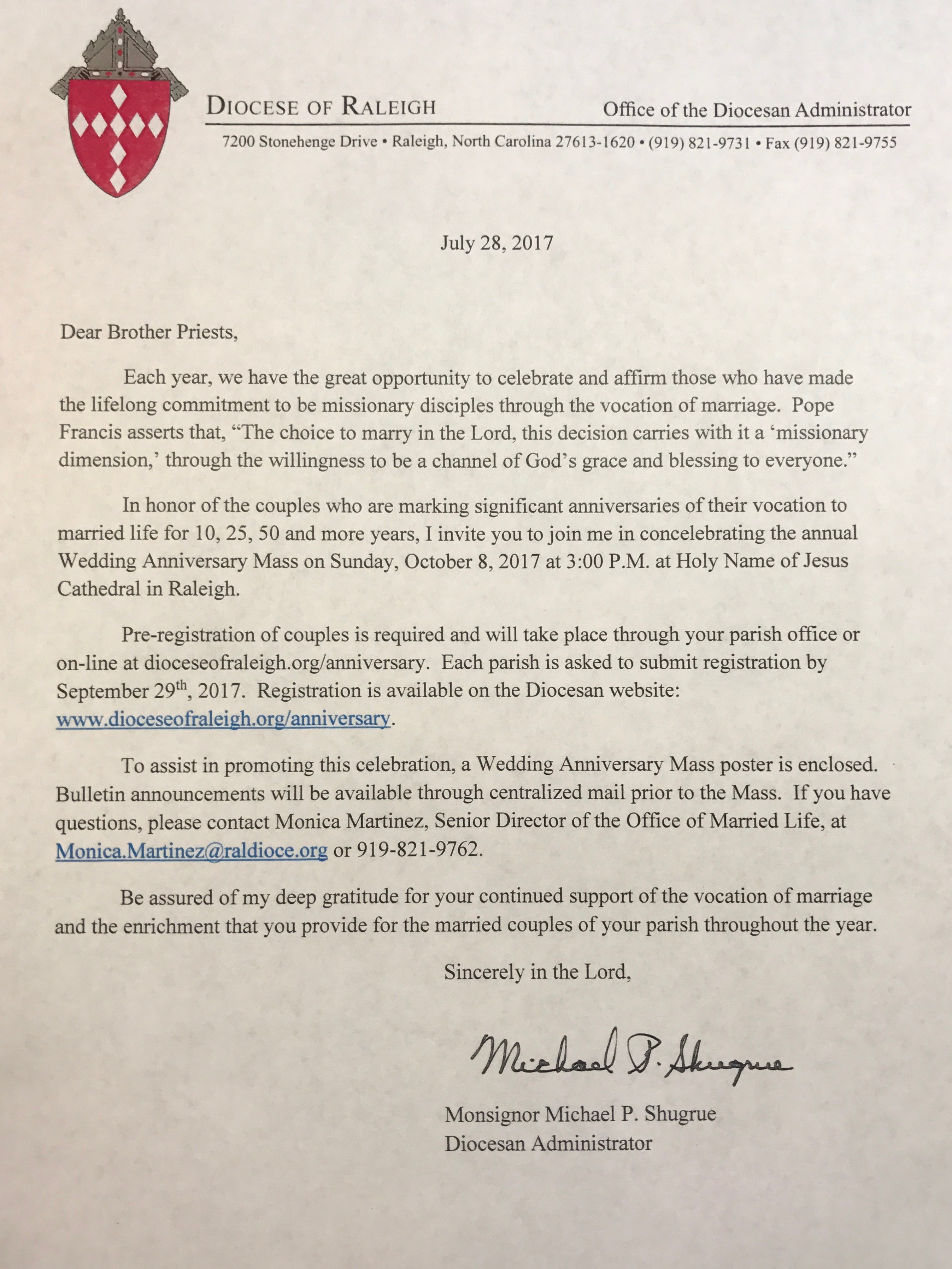 Letter to Priests