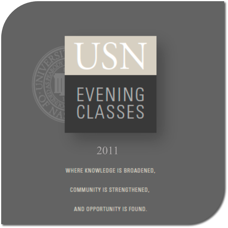 USN Evening Classes Catalog 2011-12